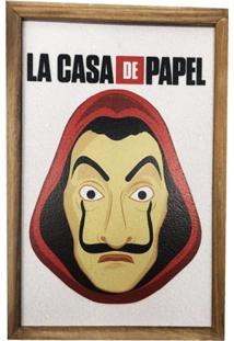 Quadro Decorativo Personalizado Em Mdf Máscara La Casa Papel