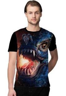 Camiseta Stompy Psicodelica2 Masculina - Masculino-Preto