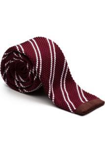 Gravata Key Design - Tricot Stripe Wine - Masculino