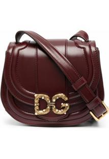 Dolce & Gabbana Bolsa Transversal Com Placa Dg - Vermelho