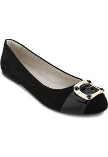 Sapatilha Angela Shoes Sense Na18-20160 Feminina - Feminino-Preto