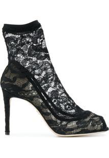Dolce & Gabbana Bota De Couro - Preto