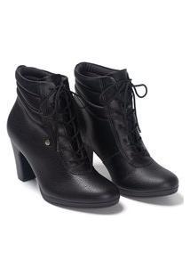 Bota Feminino Ankle Boot Salto Alto Piccadilly 130207 Preto