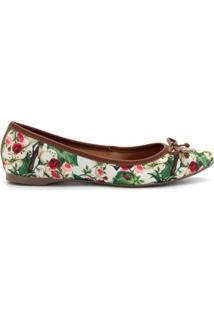 Sapatilha Royalz Laço Floral Garden - Feminino-Verde