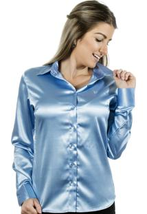 Camisa Pimenta Rosada Aqua Azul Claro