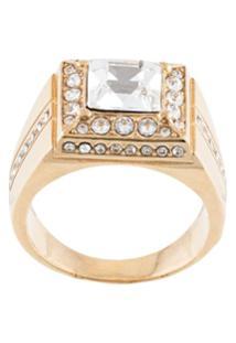 Dolce & Gabbana Anel Com Aplicações - Dourado