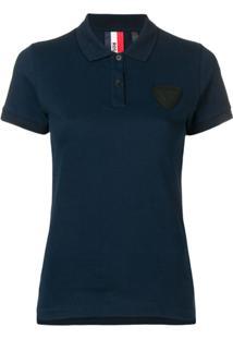 Rossignol Camisa Polo Com Patch - Azul