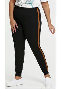 Calça Feminina Jogger Textura Plus Size
