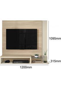 Estante Home Suspenso Para Tv Até 48 Polegadas Star Belaflex Macchiato/Off White