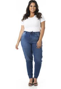 Calça Jeans Jogger Plus Size - Confidencial Extra - Tricae