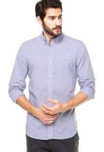 Camisa Lacoste Estampa Azul