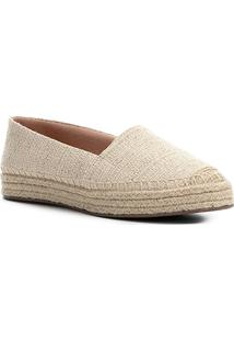 Sapatilha Shoestock Espadrille Tramada Feminina - Feminino-Bege