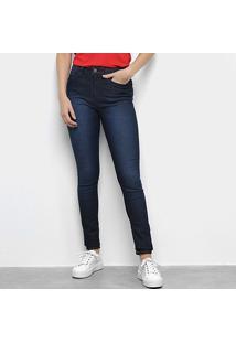 Calça Jeans Calvin Klein Feminina - Feminino-Marinho