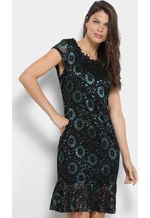 cd96598dd R$ 89,99. Zattini Vestido Lily Fashion Curta Peplum Detalhe Babado Renda ...