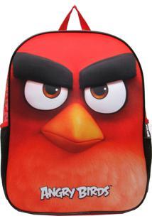 Mochila Santino 3D Angry Birds Vermelha