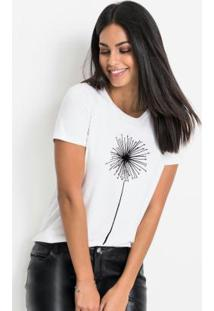 Blusa T-Shirt Com Estampa Branca