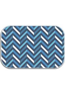 Tapete Decorativo Lar Doce Lar Traços Colors 40Cm X 60Cm Azul Marinho