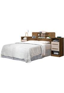 Cabeceira Box Imperial 1,60 Jequitiba/Off-White J&A Móveis