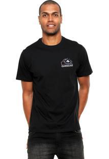 Camiseta Quiksilver Damn Time Preta