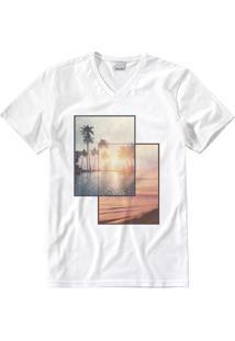 Camiseta Branca Slim Tropical Malwee