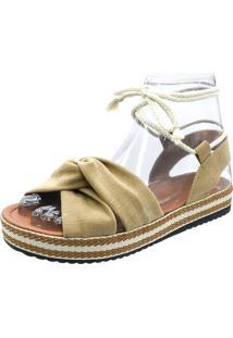 Sandália Bella Shoes Avarca Flatform Nude