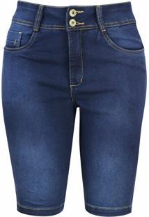 Bermuda Jeans Pau A Pique Básica Azul Claro - Kanui