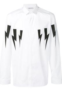 Neil Barrett Thunderbolt Shirt - Branco