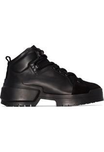 Pierre Hardy Ankle Boot Com Cadarço - Preto