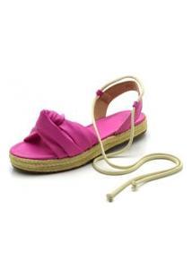 Sandália Rasteira Feminina Flor Da Pele Flat Form Pink