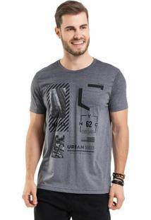 Camiseta Com Estampa Foil Cinza Bgo