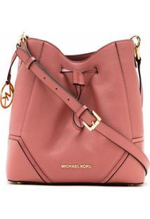 Michael Michael Kors Bolsa Bucket Nicole De Couro - Rosa