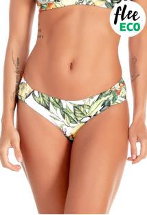Calcinha Flee Kitty Laranjeira - Verde - Feminino - Poliamida - Dafiti
