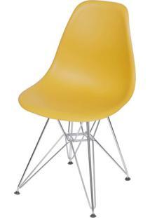 Cadeira Eames Polipropileno Acafrao Base Cromada - 49320 - Sun House
