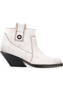 Diesel Ankle Boot Clássica - Branco