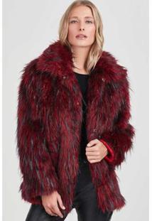 Casaco Rubinella Pelos Winter Feminino - Feminino-Vermelho+Preto