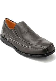 Sapato Casual Couro Sandro & Co Masculino - Masculino-Preto