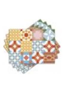 Jogo Americano - Azulejos Com 4 Peças - 1152Jo
