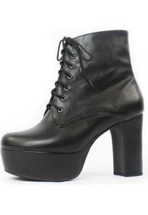 Bota Cano Curto Damannu Shoes Debbie Feminina - Feminino-Preto