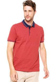 Camisa Polo Aramis Manga Curta Logo Vermelha