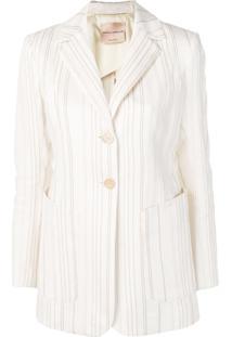 b7e637f311 Blazer Branco Listras feminino