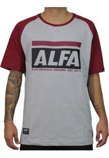 Camiseta Alfa Raglan Original Brands Bordo