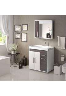 Conjunto De Banheiro Stm Móveis A38 Branco Schffield Se