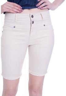 Bermuda Gup'S Jeans Sarja Bege