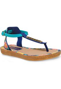 Sandalia Fem Grendene 17084 Grendha Tropicos Sand Azul