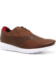 Sapatênis Zariff Shoes Couro Casual - Masculino-Marrom