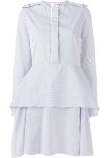 Stella Mccartney Blusa Peplum Listrada - Branco