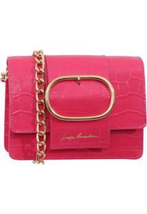 Bolsa Pequena Em Couro Rosa