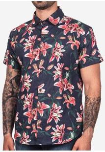 Camisa Hermoso Compadre Tropical Masculina - Masculino-Azul