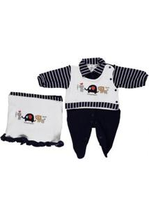 Enxoval Infantil Para Bebê Menino - Bege/Azul