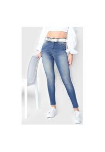 Calça Jeans Zune Skinny Estonada Azul
